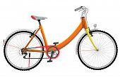 Ladies orange urban sports bike