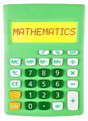 Calculator With Mathematics On Display