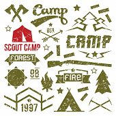 Scout Camp Badges
