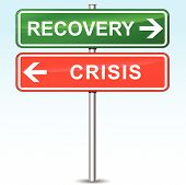 Recovery And Crisis Directional Sign