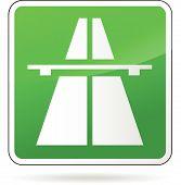 Green Freeway Sign