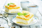 Cake With Orange, Cream Cheese And Crumbs