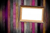 Titled Frame on Wooden Wall