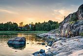 Sunset At Seaside In Helsinki