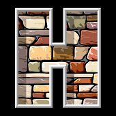 stone letter H