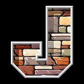 stone letter J