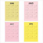 Calendar 2015 Design Template