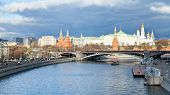 Sofiyskaya Embankment Of Moskva River And Kremlin