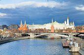 Sunshine Illuminates Moscow Kremlin In Autumn