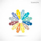 Teamwork Cooperation Icon.