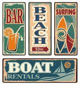 Постер, плакат: Beach Signs