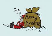 Sleeping Santa Claus