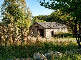 pic of blacksmith shop  - old blacksmith shop in a rural farming town  - JPG