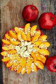 pic of oats  - Sliced fruits arrangement - JPG