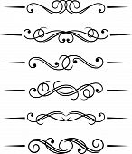 picture of monogram  - Swirl retro elements and monograms for design - JPG