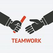 pic of 8-track  - relay teamwork concept symbol  - JPG