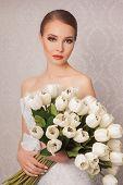 pic of beauty salon interior  - Beautiful and fashion bride in luxury interior  - JPG