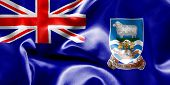 picture of falklands  - Falkland Islands flag texture creased and crumpled up with light and shadows - JPG