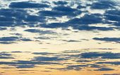 Horizontal Seamless Panorama Of Evening Sky