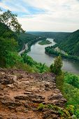 picture of gap  - Mountain river view from Delaware Water Gap - JPG