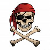 picture of eye-sockets  - Pirate skull and crossbones - JPG