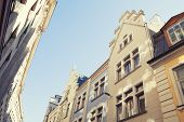 pic of tourist-spot  - Buildings with sunlight spots with vintage stile - JPG