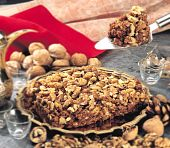 picture of halwa  - Akhrot or Walnut Halwa is a very nutritive and healthy dessert of indian - JPG