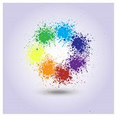 picture of paint spray  - Vector rainbow of paint spray for design - JPG