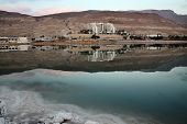 stock photo of early morning  - Early morning on the Dead Sea resorts - JPG