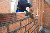 Worker Building Masonry House Wal poster