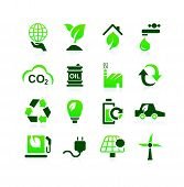 Постер, плакат: Green Environment Eco Icon