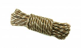 pic of nylons  - bundle cable rope on white background - JPG