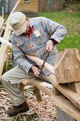Carpenter Scraping The Wood 028