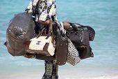 Beach Seller With Handbags