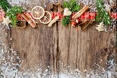 picture of christmas spices  - Baking concept background with spices and utensils for Christmas cookies - JPG
