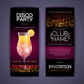 pic of violets  - Black and Violet Disco party Corporate Identity Templates - JPG
