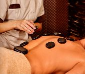 picture of panchakarma  - Man  having oil Ayurveda spa treatment - JPG