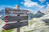 image of italian alps  - The three peaks of Lavaredo or the  - JPG
