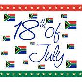 image of nelson mandela  - illustration of stylish text for International Nelson Mandela Day - JPG
