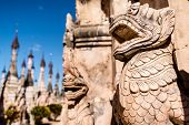 image of guardian  - The stone guardian of the pagoda in Myanmar - JPG