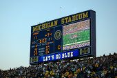 Scoreboard At End Of Michigan Vs. Michigan State Game
