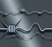 illustration of a barbed wire