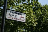 Parliament Square Street Sign