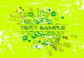 Abstract Grunge Floral Background Text Decoration