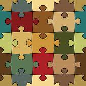 Постер, плакат: бесшовные головоломка легко изменить цвет