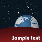 Vector de tierra en el espacio