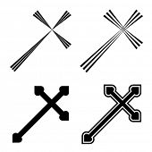 stock photo of christian cross  - Vector christian crosses - JPG