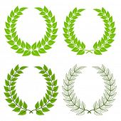 vector laurel wreaths