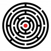 vector rounded maze