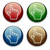 Постер, плакат: вектор рука кнопки